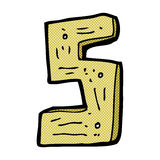 numero di legno del fumetto comico Immagine Stock