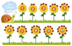 Numero di per la matematica sui fiori royalty illustrazione gratis