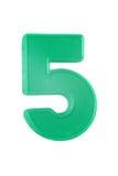 Numero di plastica cinque Fotografia Stock