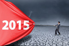 Numero di trascinamento 2015 degli impiegati per un cambiamento Fotografia Stock Libera da Diritti