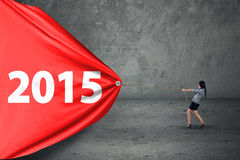 Numero di trascinamento 2015 dell'imprenditore ispano Immagine Stock Libera da Diritti