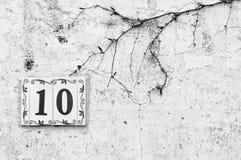 Numero dieci Immagini Stock
