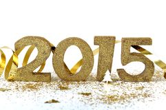 numero dorato 2015 Fotografie Stock Libere da Diritti