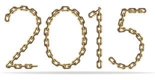 Numero dorato 2015 anni Fotografie Stock