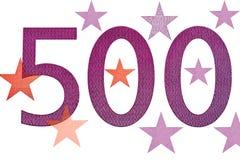 Numero 500 e stelle Immagini Stock