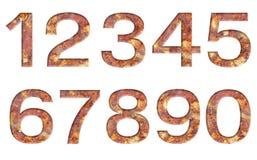 Numero fatto dalla pietra Immagine Stock