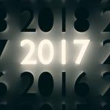 Numero luminoso Concetto di nuovo anno Immagini Stock
