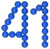 Numero 41, quaranta uno, dalle palle decorative, isolate su bianco Fotografie Stock Libere da Diritti