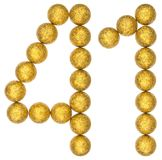 Numero 41, quaranta uno, dalle palle decorative, isolate su bianco Immagine Stock Libera da Diritti