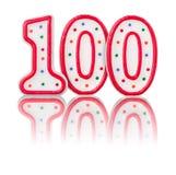 Numero rosso 100 Fotografie Stock Libere da Diritti