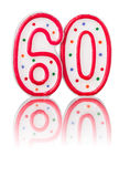 Numero rosso 60 Fotografia Stock