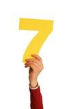 numero sette Fotografia Stock