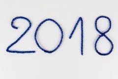 Numero 2018 su bianco Immagini Stock Libere da Diritti