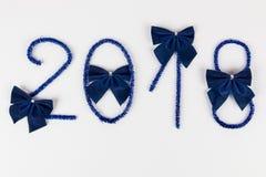 Numero 2018 su bianco Fotografia Stock Libera da Diritti