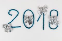 Numero 2018 su bianco Fotografie Stock Libere da Diritti