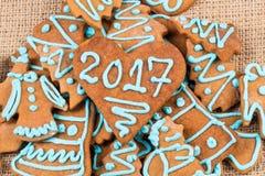 numero 2017 sul biscotto Immagini Stock
