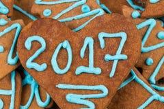 numero 2017 sul biscotto Fotografia Stock