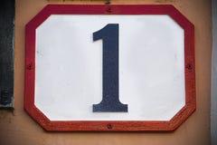 Numero uno… Fotografia Stock