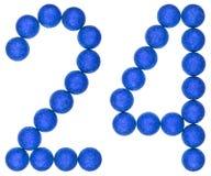 Numero 24, venti quattro, dalle palle decorative, isolate su briciolo Fotografie Stock Libere da Diritti