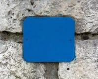 Numero vuoto della via su una parete di pietra Fotografia Stock Libera da Diritti