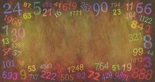 Numerologii liczb rabatowy tło Zdjęcia Royalty Free