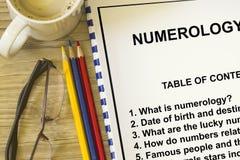 numerology lizenzfreie stockfotos
