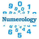 Numerology Blue Numbers Circular Royalty Free Stock Photos