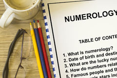 Numerology Royalty Free Stock Photos
