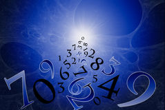 Numerology (la scienza antica). Fotografia Stock