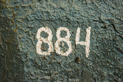 Numerology or magic of digits 884 Royalty Free Stock Photography