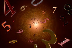 Numerology (magical knowledge). Royalty Free Stock Images