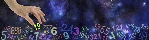 Numerology Space Website Banner Stock Images
