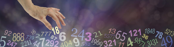 Numerology Wide Bokeh Website Banner stock photo
