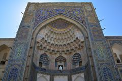 Beautiful Mosque in Bukhara Uzbekistan Central Asia. On of The numerous Beautiful and Colourful mosques and mausoleums of the ancient city of Bukhara in royalty free stock image