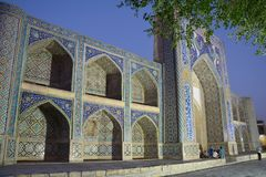 Beautiful Mosque in Bukhara Uzbekistan Central Asia. On of The numerous Beautiful and Colourful mosques and mausoleums of the ancient city of Bukhara in stock images