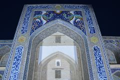 Beautiful Mosque in Bukhara Uzbekistan Central Asia. On of The numerous Beautiful and Colourful mosques and mausoleums of the ancient city of Bukhara in royalty free stock photos
