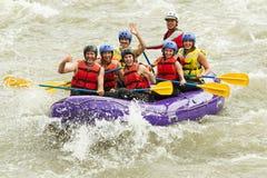 Numerous Family On Whitewater Rafting Trip stock photos