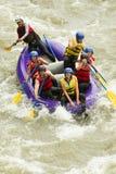 Numerous Family On Whitewater Rafting Trip Royalty Free Stock Photos