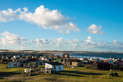 Numerous houses of fishermen and hippies on the Uruguayan coast Royalty Free Stock Photography