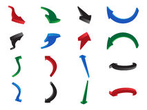 Numerous shaped colorful arrows pointing in different directions Stock Photography