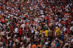 Numerous spectators watching Olympic games Royalty Free Stock Images