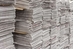 Numerous stacks of newspapers Royalty Free Stock Photo