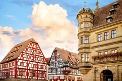 Rothenburg ob der Tauber is one of the most beautiful and romantic villages in Europe, Franconia region of Bavaria, Germany. stock image