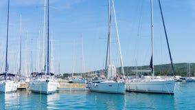 Numerous yachts in the Port of  Zadar. Croatia Stock Photos