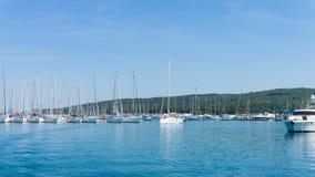 Numerous yachts in the Port of  Zadar. Croatia Stock Photo