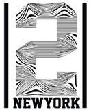 Numerowa typografia, koszulek grafika, wektory, sport, Zdjęcia Stock