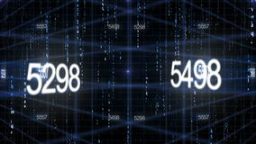 Numerowy dane technologii tło ilustracja wektor