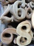 Numerowy Drewniany cyzelowanie Obraz Royalty Free