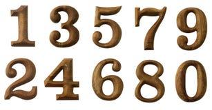 numerowy drewno zdjęcie stock