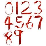 numerowy jedwab ilustracja wektor